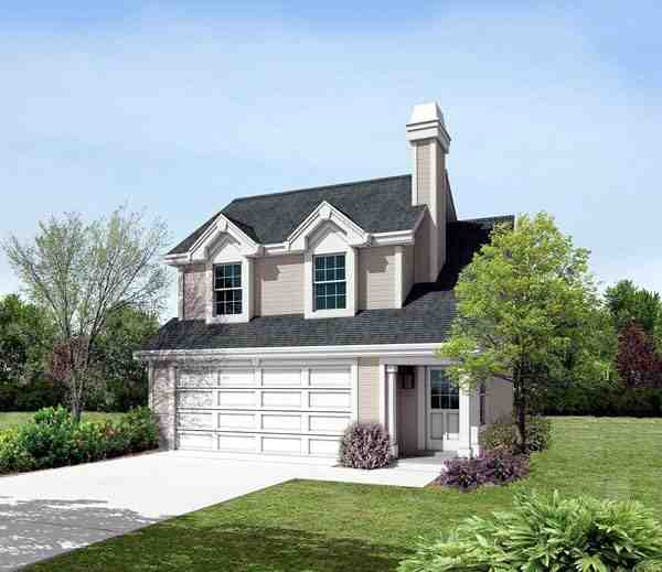 Cabin, Cottage, Country, Ranch, Traditional 2 Car Garage Apartment Plan 87891 with 1 Beds, 1 Baths Elevation