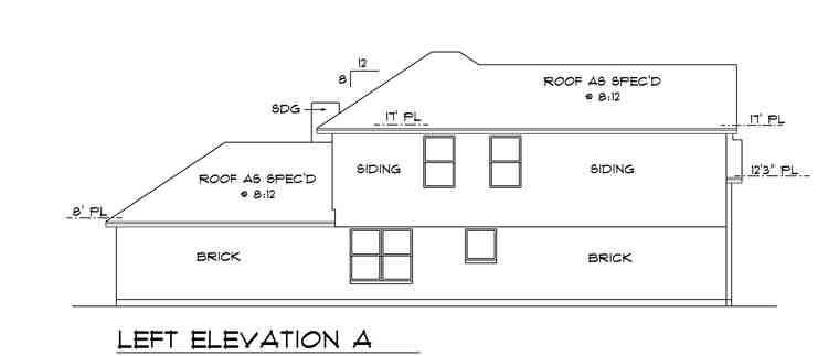Traditional House Plan 88632 with 4 Beds, 3 Baths, 2 Car Garage Picture 1