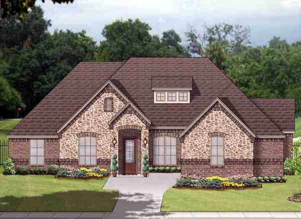 European, Traditional House Plan 88645 with 3 Beds, 3 Baths, 3 Car Garage Elevation