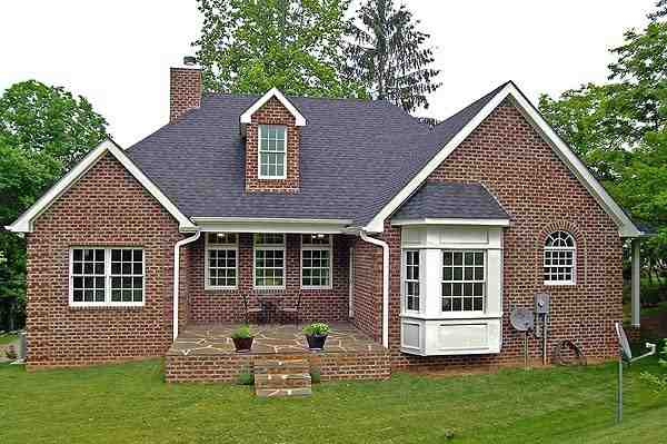 Cottage, Country, Ranch House Plan 90649 with 3 Beds, 3 Baths, 1 Car Garage Rear Elevation