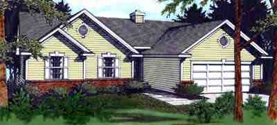 One-Story, Ranch, Traditional House Plan 90705 with 3 Beds, 2 Baths, 2 Car Garage Elevation
