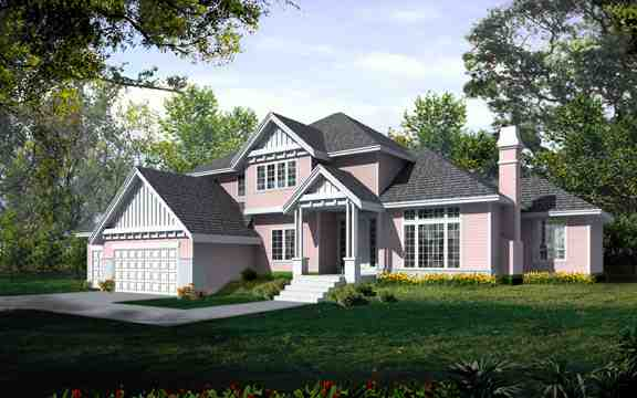 Traditional House Plan 90750 with 4 Beds, 3 Baths, 3 Car Garage Elevation