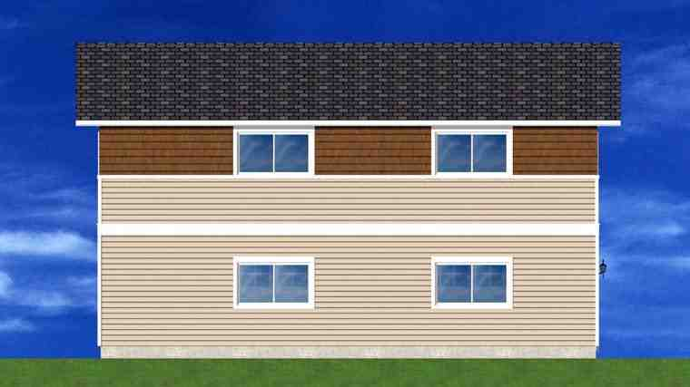 3 Car Garage Plan 90881 Rear Elevation