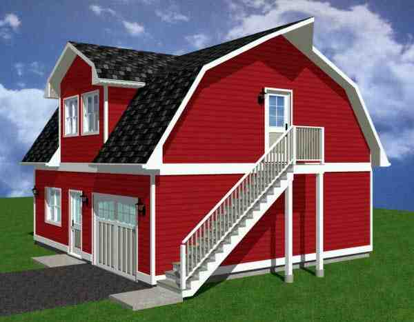 1 Car Garage Apartment Plan 90884 with 1 Beds, 1 Baths Picture 2