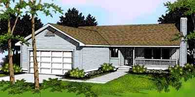 One-Story, Ranch, Traditional House Plan 91807 with 3 Beds, 2 Baths, 2 Car Garage Elevation