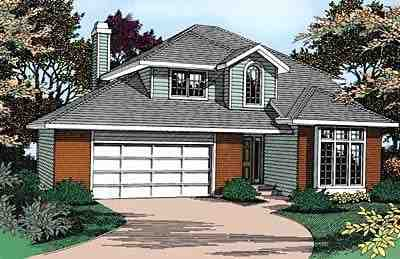 Contemporary, Traditional House Plan 91816 with 3 Beds, 3 Baths, 2 Car Garage Elevation