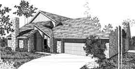 Bungalow, Contemporary Multi-Family Plan 92299 with 4 Beds, 4 Baths, 2 Car Garage Elevation