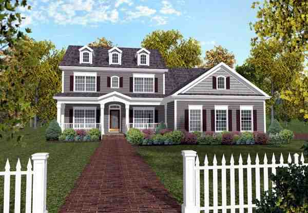 Traditional House Plan 92367 with 4 Beds, 3 Baths, 3 Car Garage Elevation