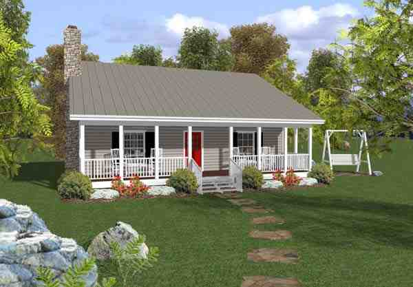 Cabin, Country, Ranch House Plan 92376 with 2 Beds, 2 Baths Elevation