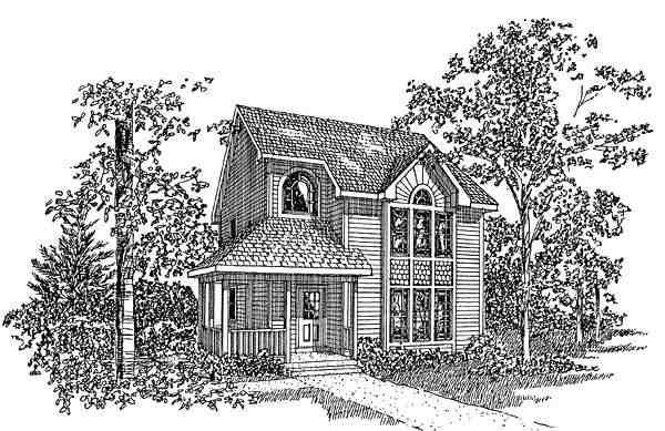 Contemporary, Country, Farmhouse House Plan 94018 with 4 Beds, 3 Baths Elevation