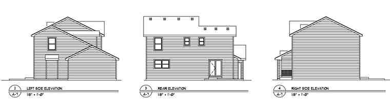 Country House Plan 94420 with 4 Beds, 3 Baths, 2 Car Garage Rear Elevation