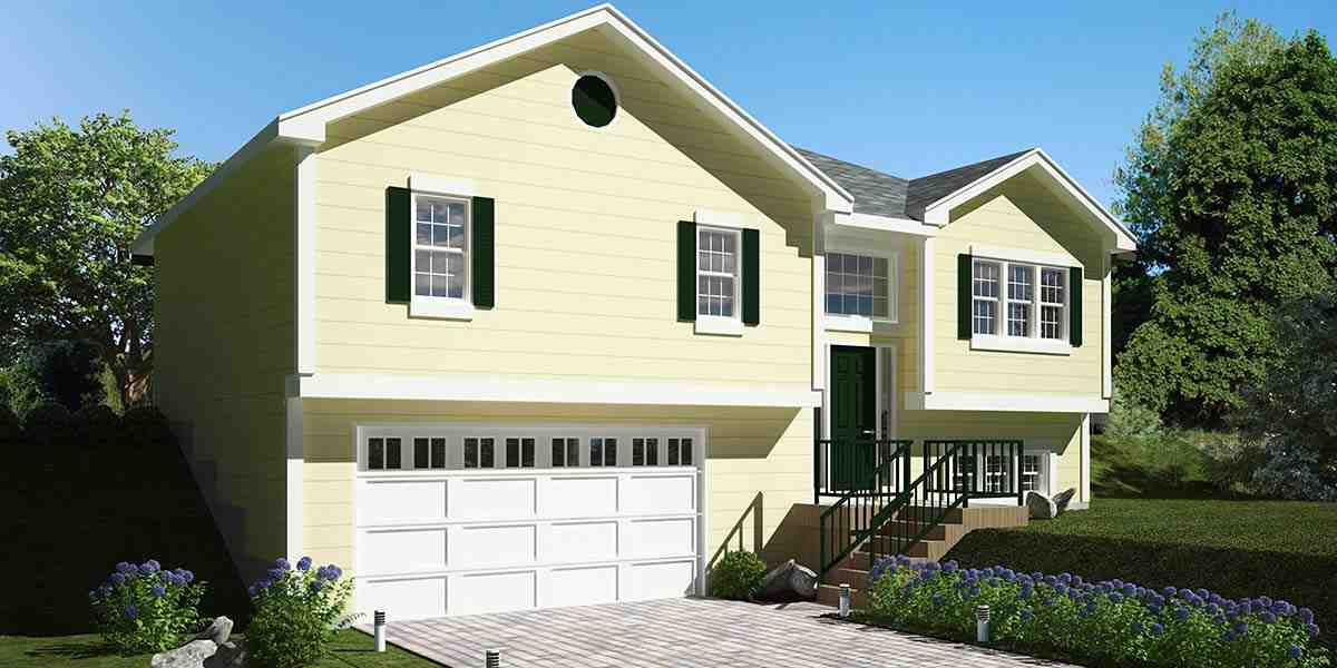 Traditional House Plan 94499 with 3 Beds, 3 Baths, 2 Car Garage Picture 1