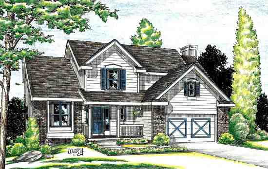 Country House Plan 94953 with 4 Beds, 3 Baths, 2 Car Garage Elevation
