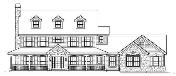 Cape Cod, Colonial, Country, Farmhouse House Plan 95822 with 4 Beds, 4 Baths, 2 Car Garage Picture 4