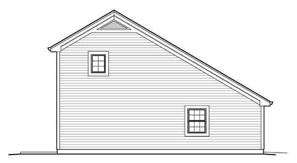Country, Saltbox 1 Car Garage Apartment Plan 95826 with 1 Beds, 1 Baths Picture 1