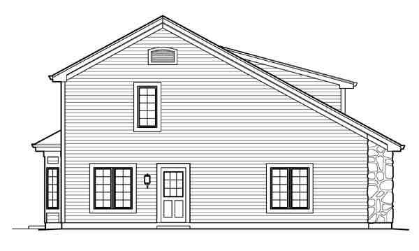Cabin, Cottage, Country, Craftsman 3 Car Garage Apartment Plan 95827 with 1 Beds, 2 Baths, RV Storage Picture 1