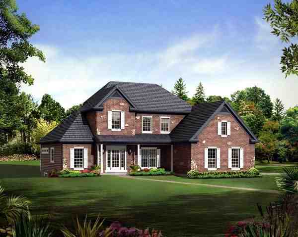 Country, Craftsman, Traditional House Plan 95898 with 3 Beds, 3 Baths, 2 Car Garage Elevation