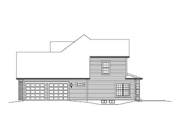 Country, Craftsman, Traditional House Plan 95898 with 3 Beds, 3 Baths, 2 Car Garage Picture 2