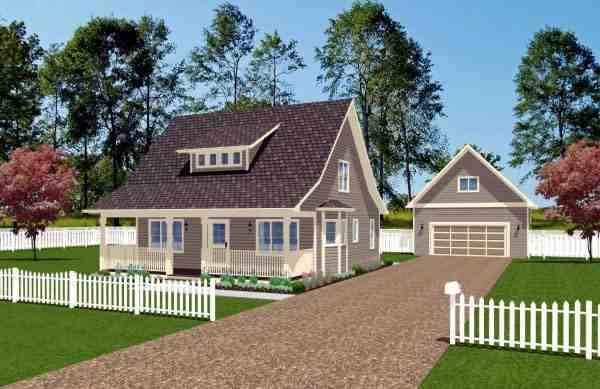 Cape Cod House Plan 96205 with 3 Beds, 2 Baths Elevation