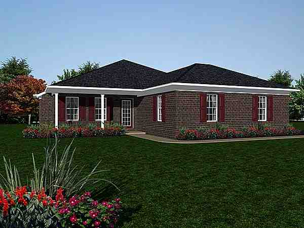 Traditional House Plan 96599 with 2 Beds, 2 Baths Elevation