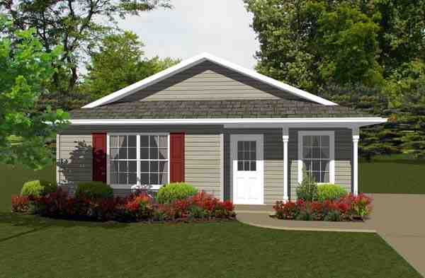 Traditional House Plan 96700 with 2 Beds, 1 Baths Elevation