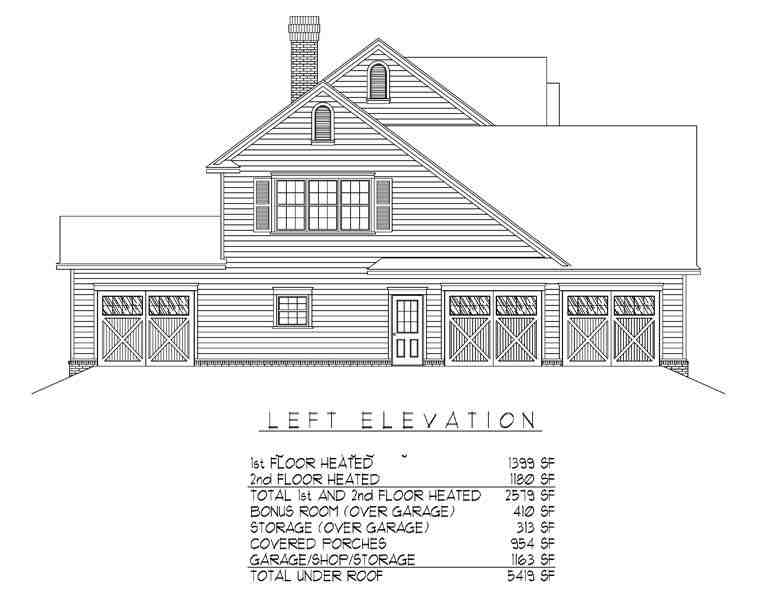 Country, Farmhouse House Plan 96838 with 4 Beds, 3 Baths, 3 Car Garage Picture 1