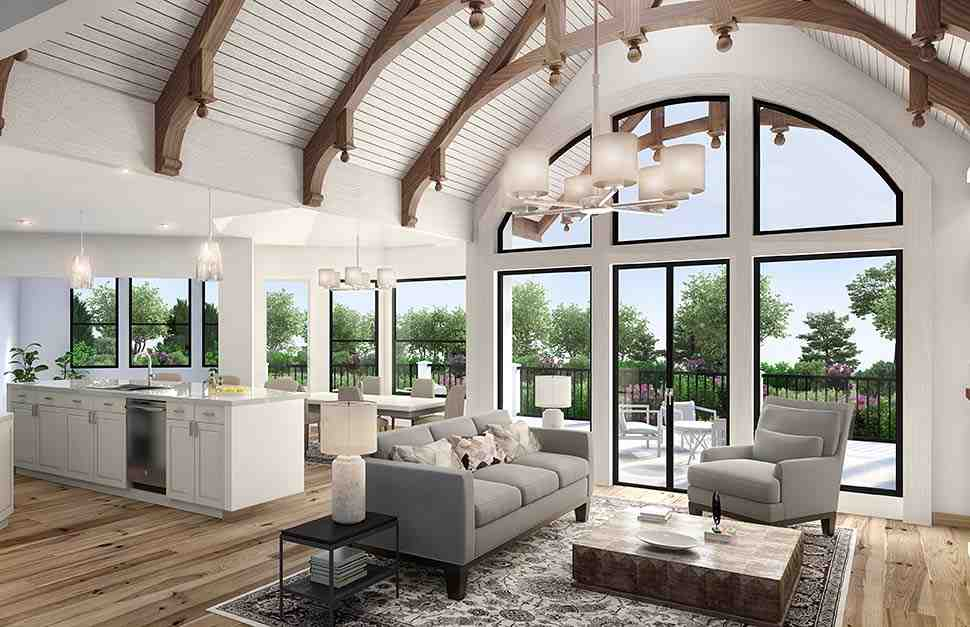 Cottage, Craftsman House Plan 97641 with 3 Beds, 3 Baths, 2 Car Garage Picture 1