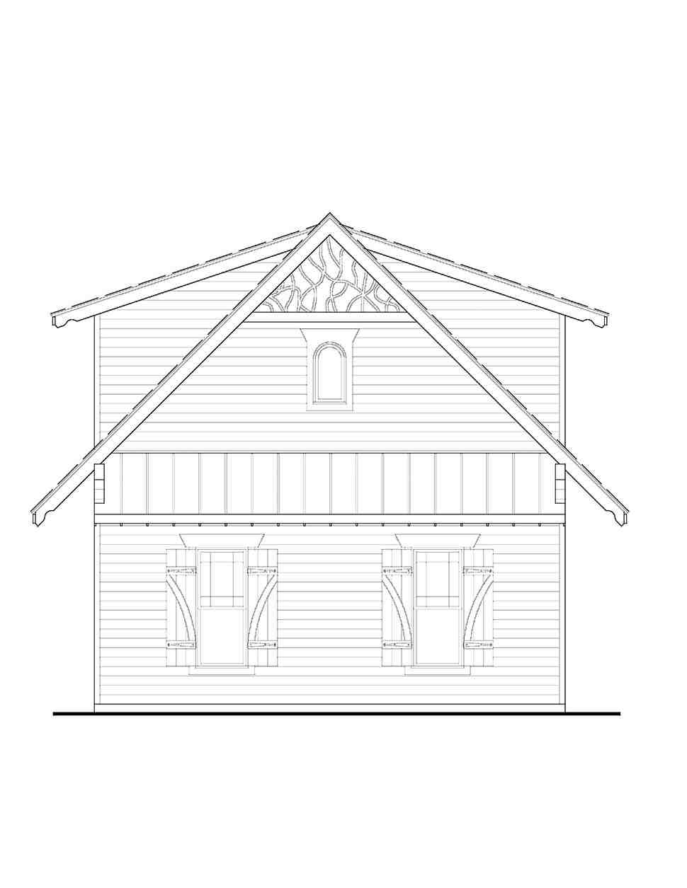 Cabin, Cottage, Craftsman 2 Car Garage Apartment Plan 97643 with 1 Beds, 1 Baths Picture 1
