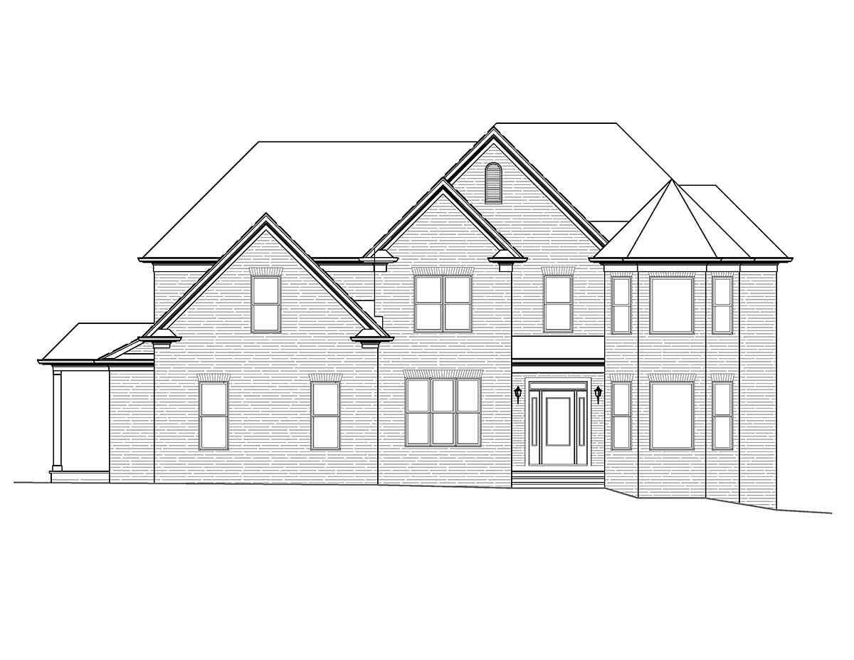 Country, French Country, Traditional House Plan 97691 with 4 Beds, 4 Baths, 2 Car Garage Picture 1