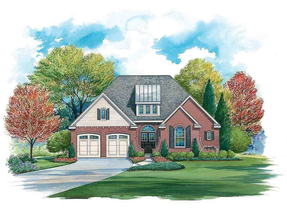 Traditional House Plan 97995 with 4 Beds, 4 Baths, 2 Car Garage Elevation