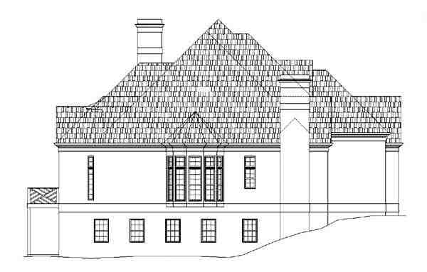 European, Greek Revival, Victorian House Plan 98226 with 4 Beds, 4 Baths, 3 Car Garage Picture 3
