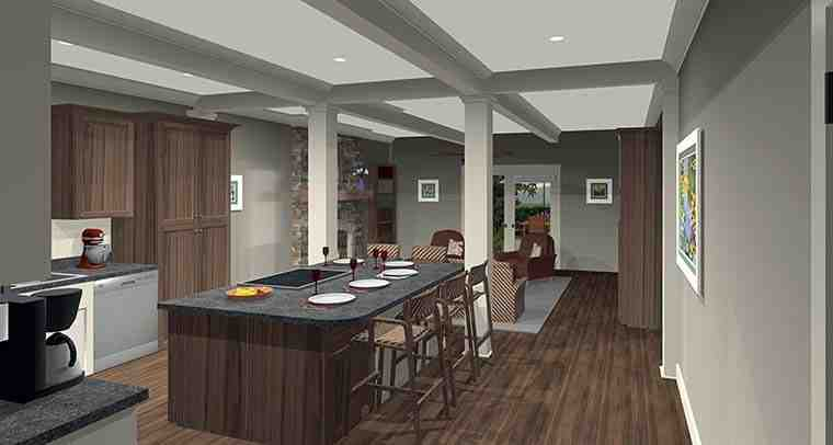 Cottage, Country, Craftsman House Plan 98401 with 4 Beds, 2 Baths, 2 Car Garage Picture 2