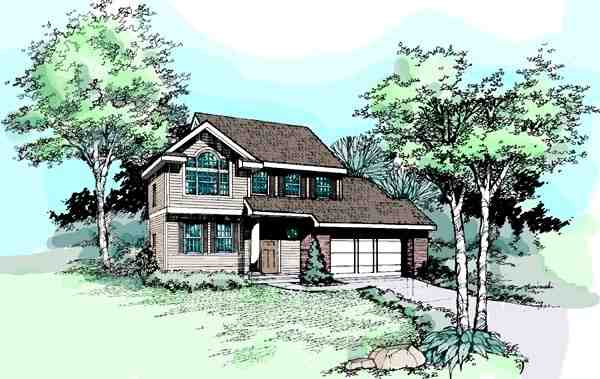 Country House Plan 99351 with 4 Beds, 3 Baths Elevation