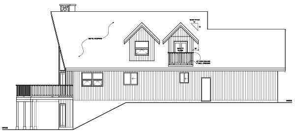 Contemporary House Plan 99943 with 2 Beds, 2 Baths, 2 Car Garage Picture 1