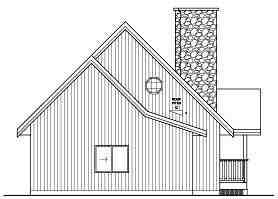 Contemporary House Plan 99943 with 2 Beds, 2 Baths, 2 Car Garage Rear Elevation