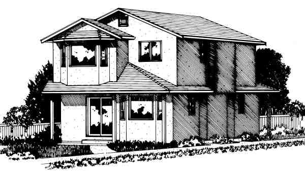 Multi-Family Plan 99959 with 6 Beds, 4 Baths Elevation