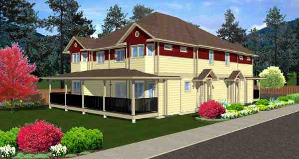 Multi-Family Plan 99966 with 12 Beds, 8 Baths Elevation
