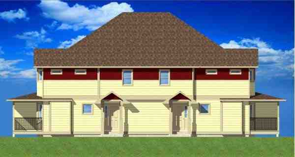 Multi-Family Plan 99966 with 12 Beds, 8 Baths Picture 2