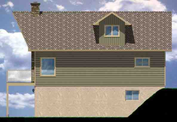 A-Frame House Plan 99975 with 3 Beds, 2 Baths, 1 Car Garage Picture 2