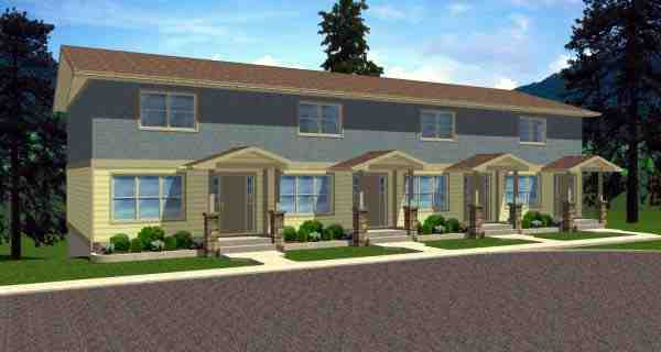 Multi-Family Plan 99988 with 8 Beds, 8 Baths Elevation