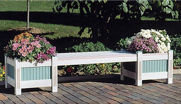 Classic Planter and Bench Woodworking Plan
