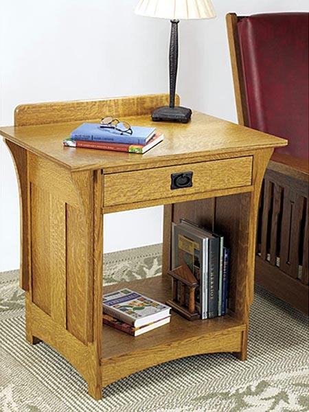 Arts and Crafts Nightstand Woodworking Plan