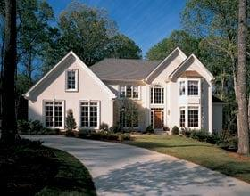 European, Traditional House Plan 19382 with 4 Beds, 4 Baths, 2 Car Garage Elevation