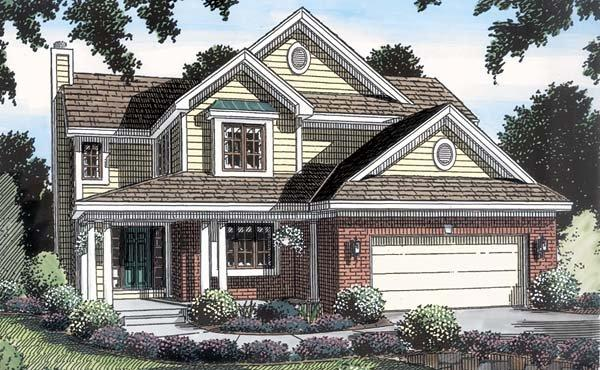 Traditional House Plan 20226 with 3 Beds, 3 Baths, 2 Car Garage Elevation