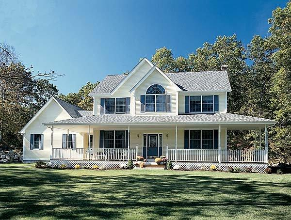 Country, Farmhouse, Southern House Plan 24245 with 3 Beds, 3 Baths, 2 Car Garage Elevation