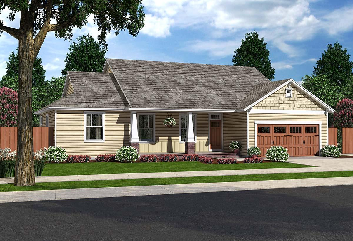Country, Craftsman, Ranch, Traditional House Plan 25200 with 3 Beds, 2 Baths, 2 Car Garage Elevation