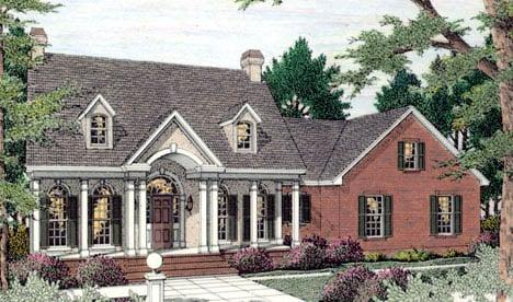 Cape Cod, Colonial House Plan 40020 with 3 Beds, 3 Baths, 2 Car Garage Elevation