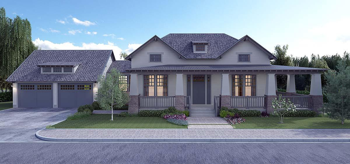 Bungalow, Cottage, Country, Craftsman, Farmhouse, Southern, Traditional House Plan 40103 with 4 Beds, 4 Baths, 2 Car Garage Elevation