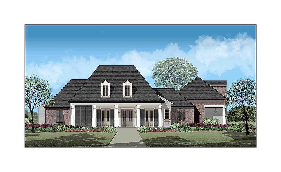 Country, French Country, Southern House Plan 40336 with 4 Beds, 5 Baths, 3 Car Garage Elevation