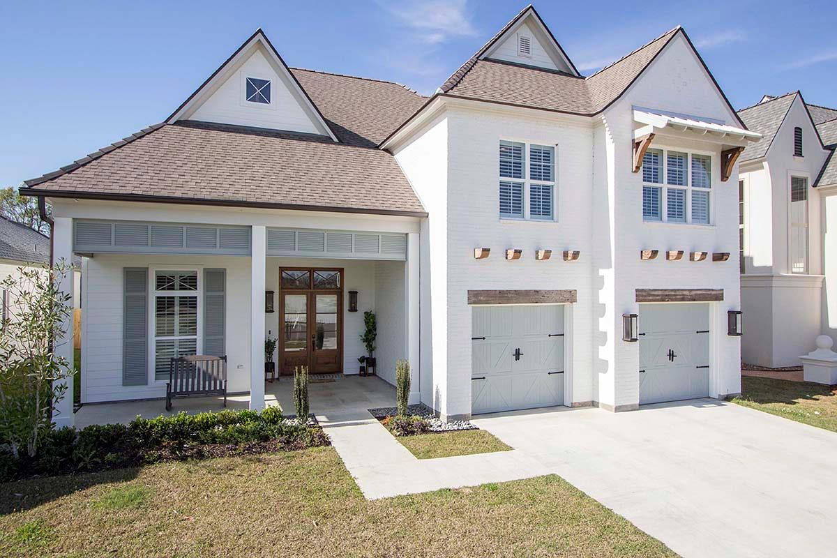Country, European, French Country House Plan 40337 with 4 Beds, 4 Baths, 2 Car Garage Elevation